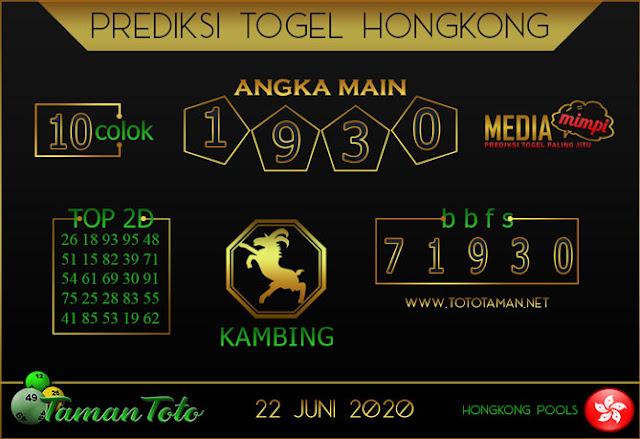 Prediksi Togel HONGKONG TAMAN TOTO 22 JUNI 2020