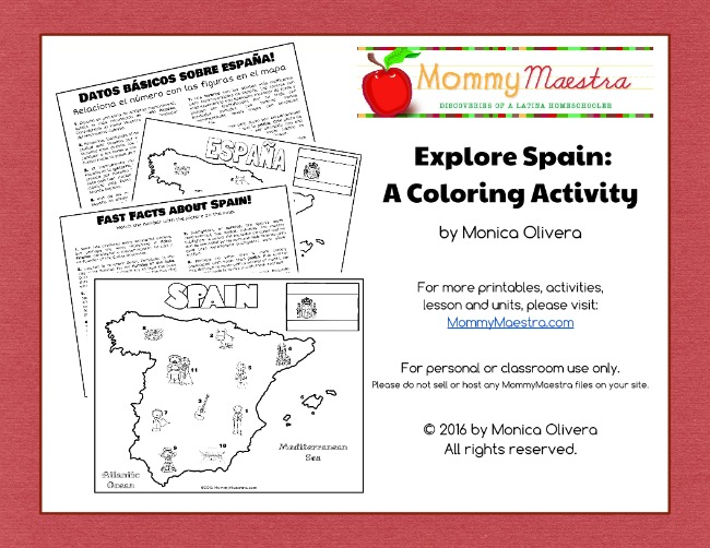 mommy maestra exploring spain a printable coloring page for