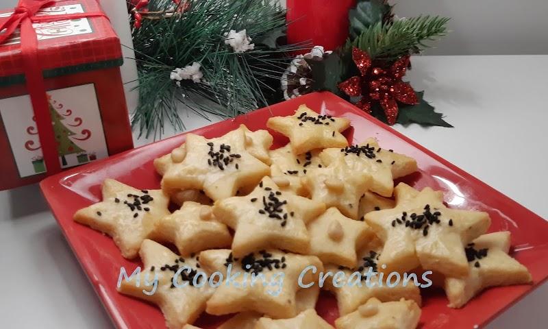 Хрупкави соленки Пармезанови звезди * Frollini al Parmigiano