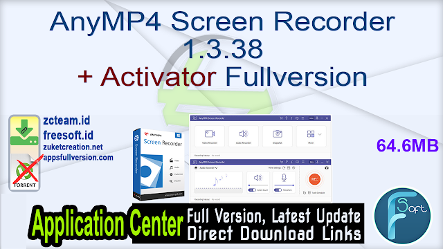 AnyMP4 Screen Recorder 1.3.38 + Activator Fullversion