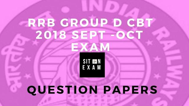 RRB Group D Question Paper 2018  – Download Group D Question Paper PDF, Job Alert