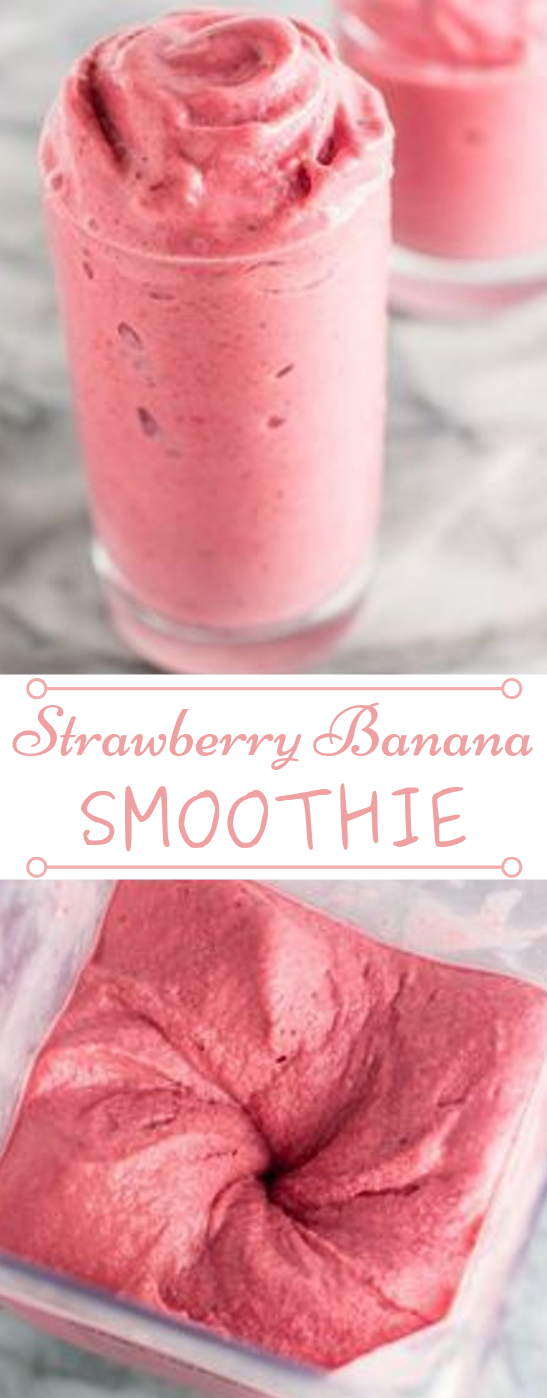 STRAWBERRY BANANA SMOOTHIE RECIPE #strawberry #drink #healthy #party #cocktail