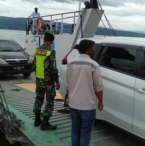 Tepatnya Di Pelabuhan Tiga Ras, Personel Jajaran Kodim 0207/Simalungun Bersama Dinas Terkait Laksanakan Gakplin