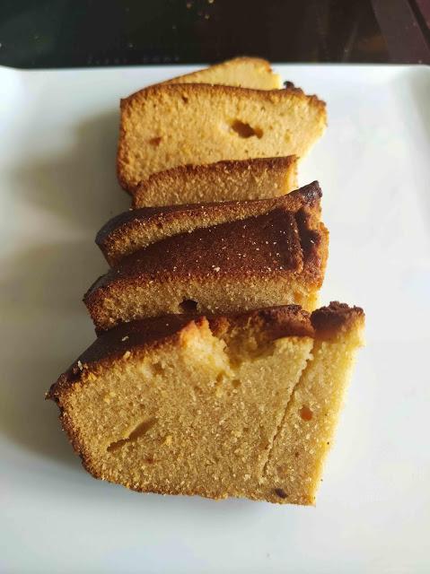 Cake d'amour de peau d'âne revisité, au pamplemousse et au miel