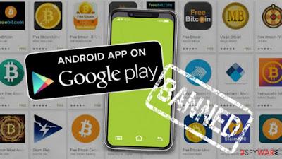 متجر Google Play يزيل تطبيقات أخبار العملات المشفرة