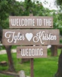 Carteles de madera con letras personalizadas, para bodas y eventos