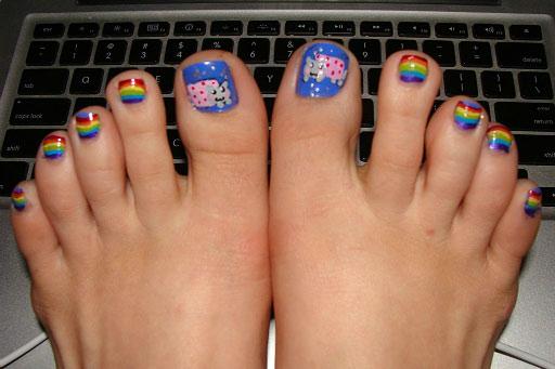 nyan cat toes