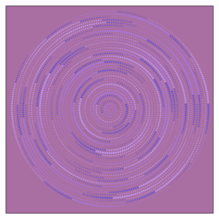 Archimedes's spiral with the colors that get automatically.