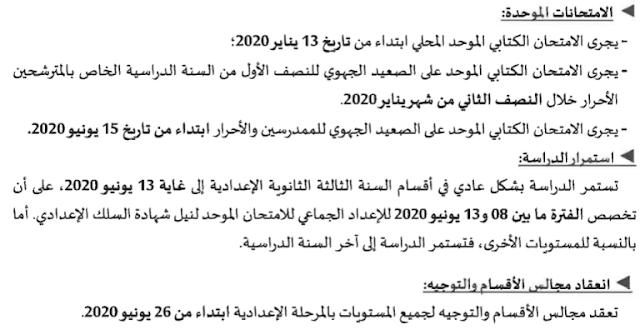 نتائج-الامتحان-الجهوي-الموحد-الثالثة-اعدادي-2020