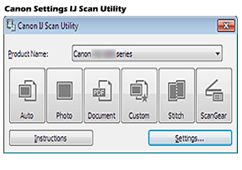Canon Ij Setup IJ Network Scan Utility