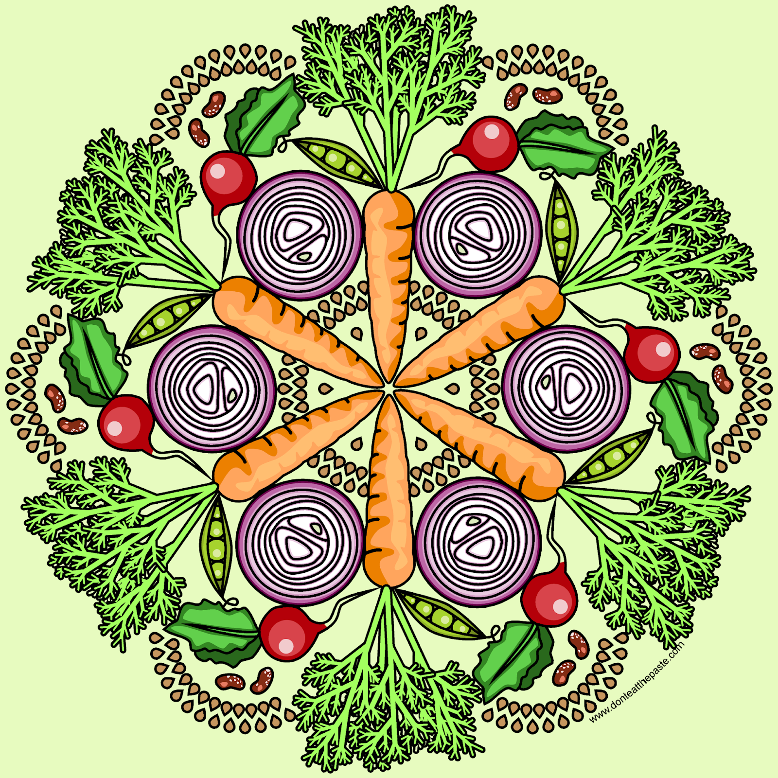 Garden Coloring Page Blank Available