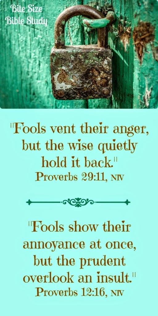 Anger, fools, controling temper, Bible, God