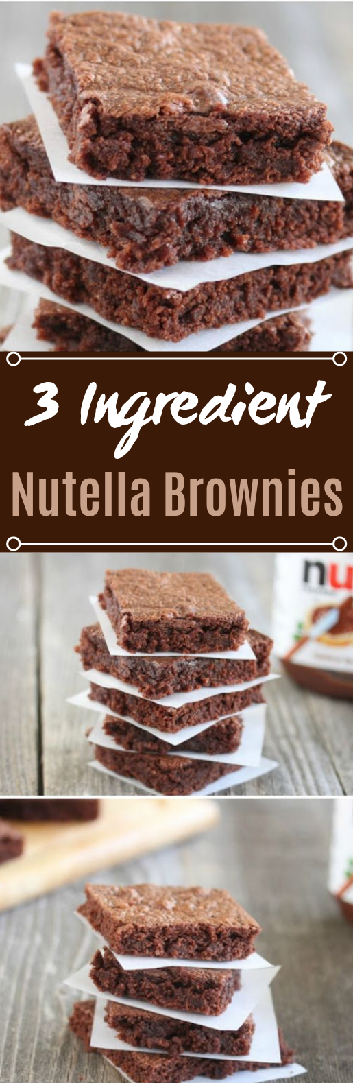 Easiest Nutella Brownies #brownies #desserts