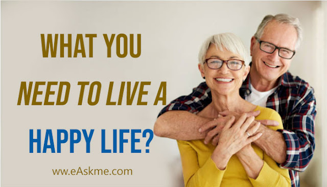 What You Need to Live a Happy Life?: eAskme