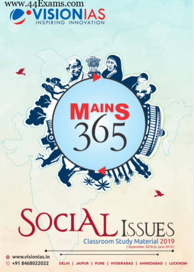 Vision-IAS-Social-Issues-Class-Study-Material-2019-For-UPSC-Exam-PDF-Book