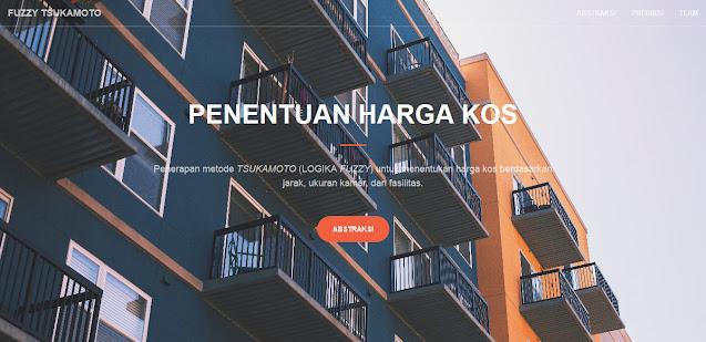 Penerapan Fuzzy Tsukamoto Dalam Aplikasi Penentuan Harga Kos Berbasis Web