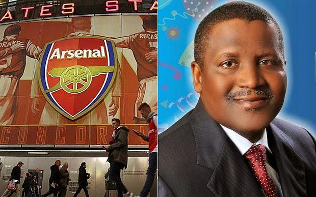 El millonario más rico de África quiere el Arsenal