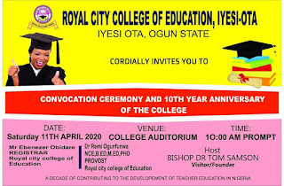 ROCOED Convocation Ceremony & 10th Year Anniversary Date 2019