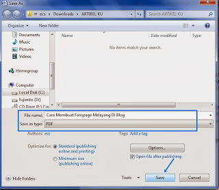 Cara Mengubah  File Word Ke Pdf, cara save di Ms. word