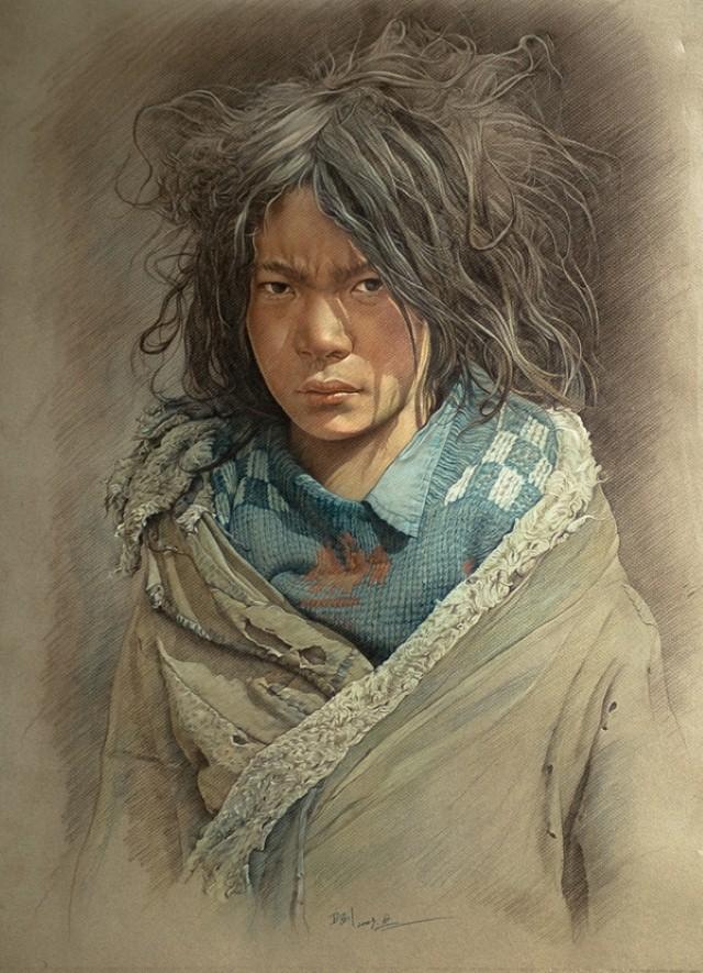 Карандашные портреты. William Wu 16