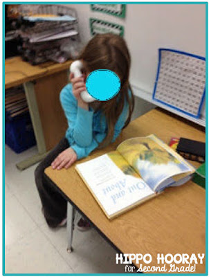 Poetry is meant to be read aloud. Using DIY whisper phones to read poetry.