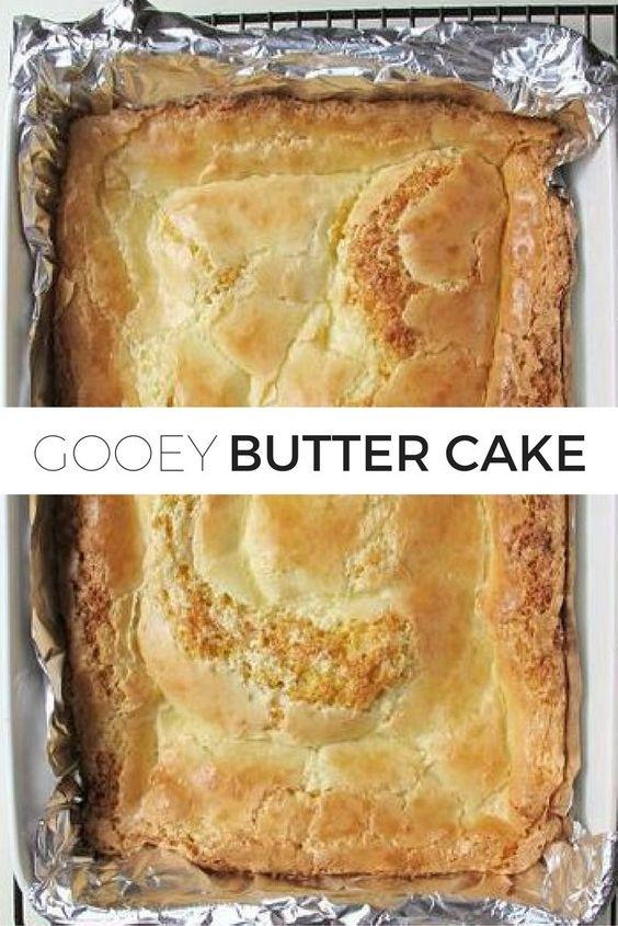 Easy Gooey Butter Cake Recipe