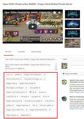 Cara Optimasi Video Youtube Untuk Pemula YT TAG