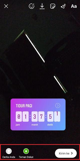 Cara Memb 6uat Countdown Instagram 6