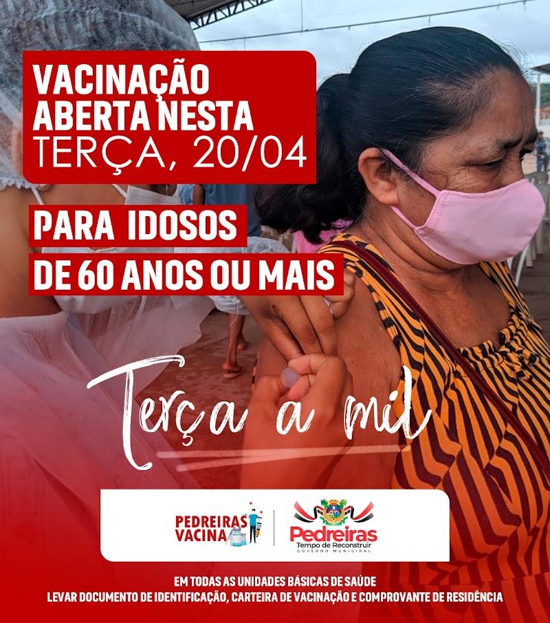 Secretaria de Saúde de Pedreiras vai iniciar vacinação dos profissionais da educação.