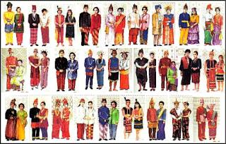 gambar baju atau pakaian berbeda - beda dari berbagai suku bangsa di Indonesia