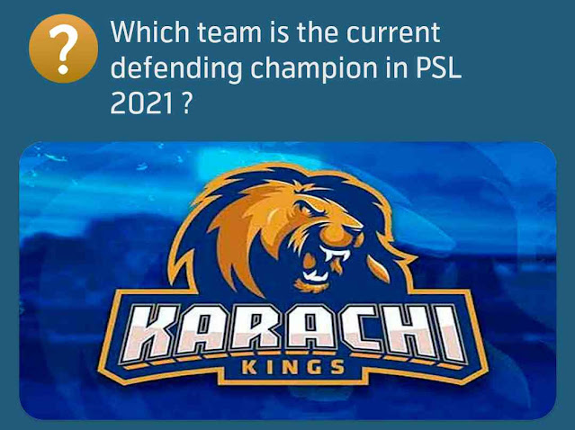 Which team is the current defending champion in PSL 2021 ?