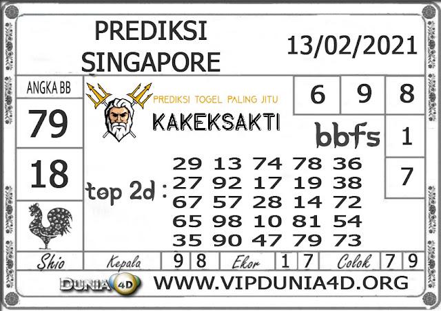 Prediksi Togel SINGAPORE DUNIA4D 14  FEBRUARI 2021