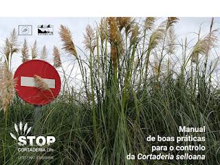 """Imaxe do """"Manual de boas prácticas para o controlo da Cortaderia selloana"""""""