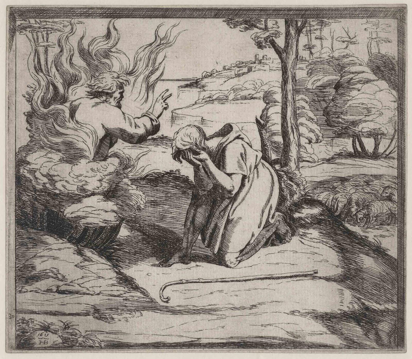 Prints And Principles Orazio Borgianni S Etching God Appearing