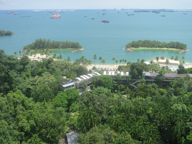 Siloso Beach - view from cable car