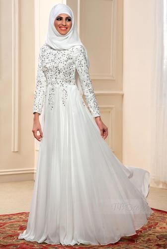 Kumpulan Baju Gamis Muslim Kombinasi Brokat Terbaru Warna