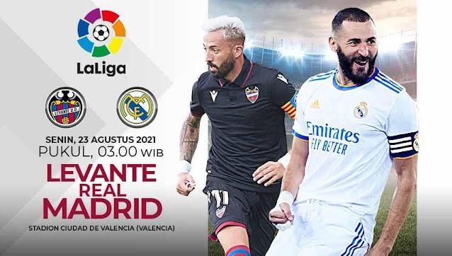 Link Live Streaming Levante vs Real Madrid La Liga Spanyol