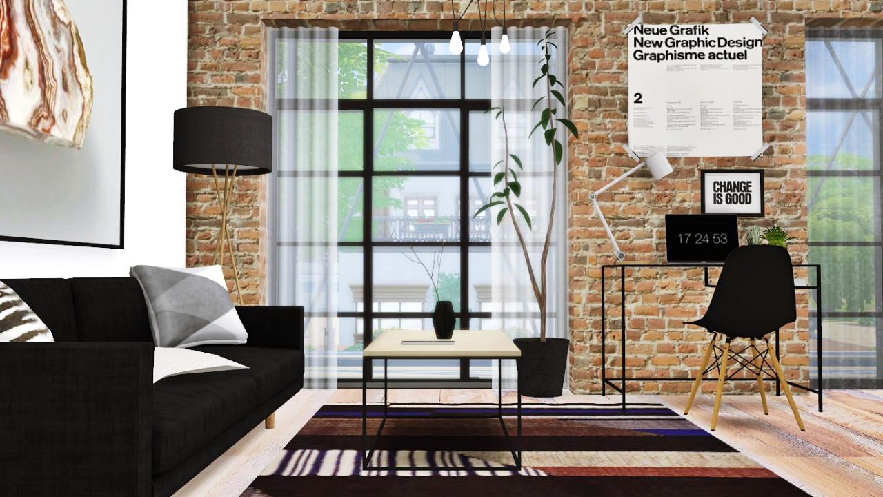 Living Room Set And Decor By MXIMS