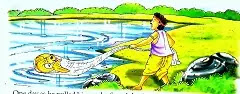 Hindi moral story of Fisherman And  Fish