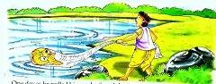 Hindi moral story of Fisherman And  Fish