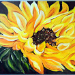 Gorgeous Sunflower Painting 16x20
