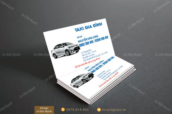 Mẫu card visit Taxi Gia Đình