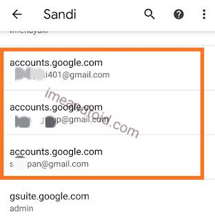 Cek kata sandi Gmail lupa