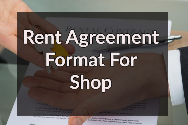 Rent Agreement Format For Shop