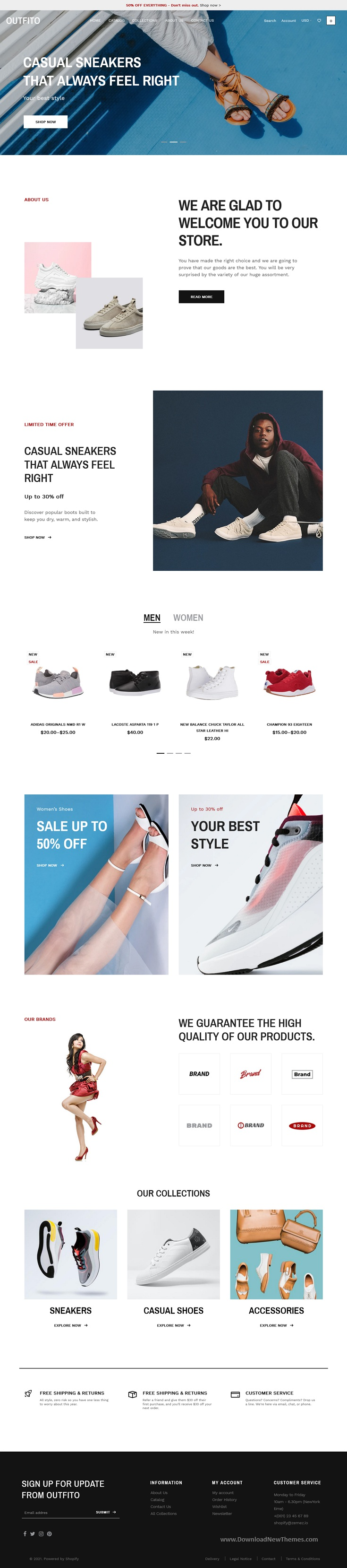 Footwear and Shoes Store Premium Shopify Theme