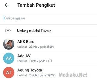Menambahkan Anggota Baru Di Channel Telegram
