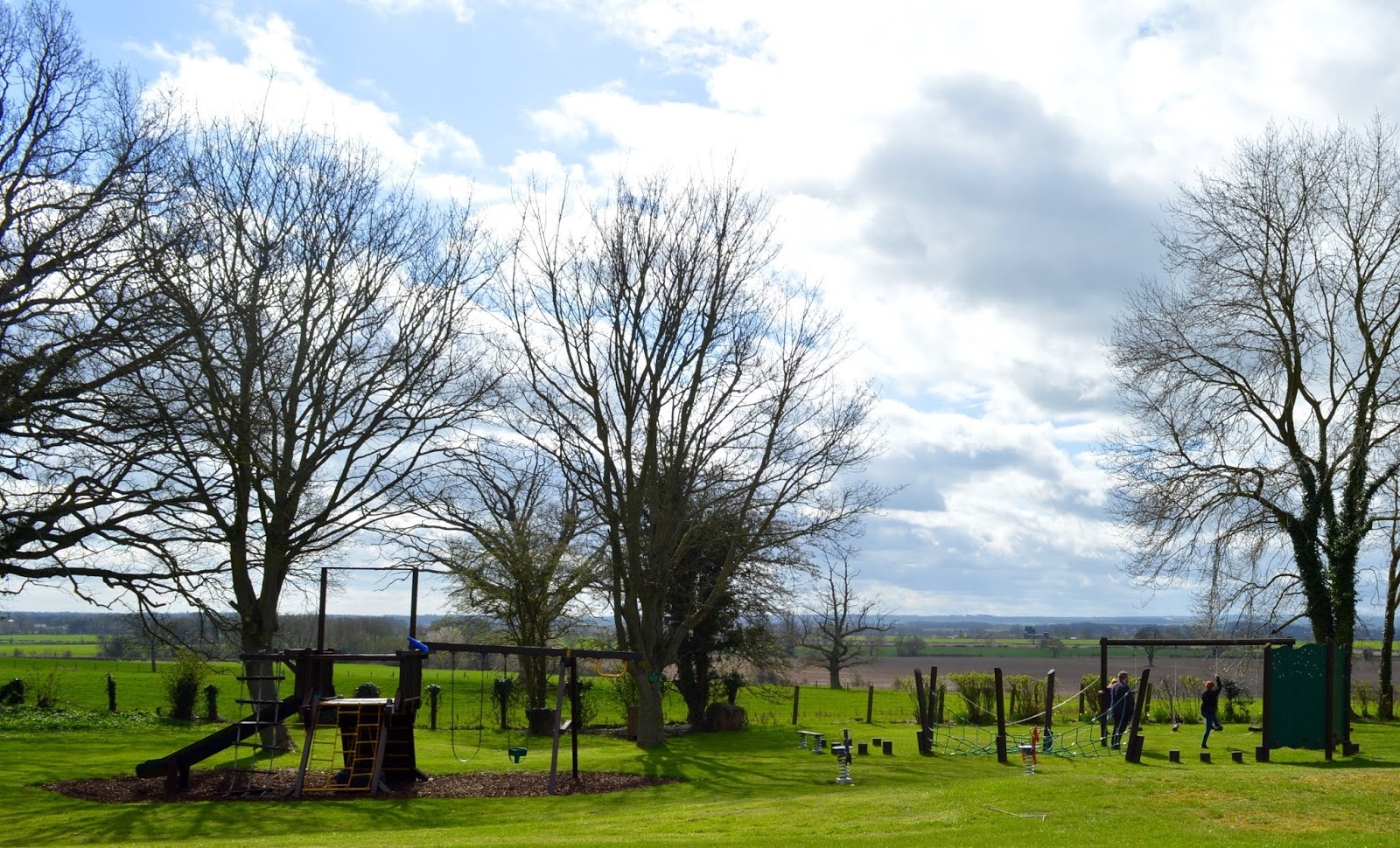 Sunday Lunch, Playgrounds & Birds of Prey at Walworth Castle, Darlington  - countryside views and park