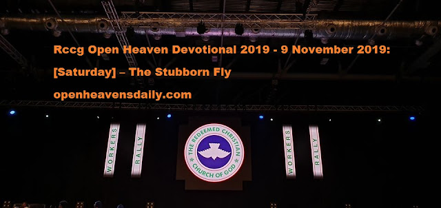 Rccg Open Heaven Devotional 2019 - 9 November 2019 – The Stubborn Fly