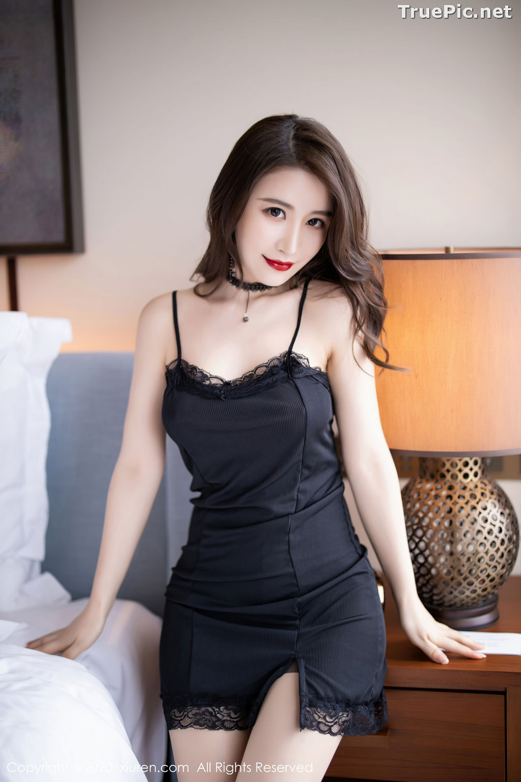 Image XIUREN No.2620 - Chinese Model - 绯月樱-Cherry - Sexy and Mysterious Black - TruePic.net - Picture-1