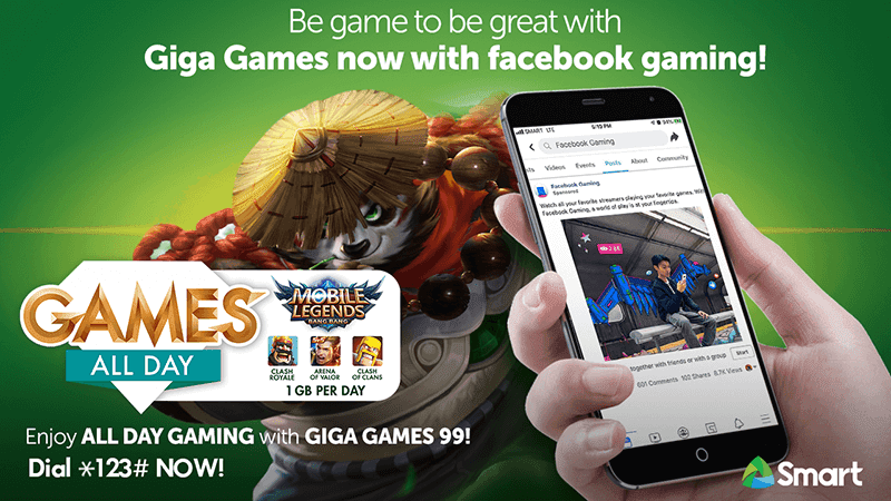 Smart Giga Games now comes with Facebook Gaming